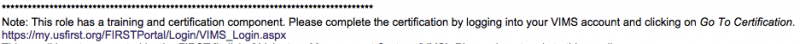 Judge assignment e-mail mentions Certification requirement.